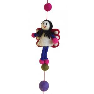 One World is Enough Lovely Handmade Felt Angels/Fairies Hanging - Fair Trade