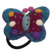 Hand Embellished Felt Butterfly Hair Accessory - Fair Trade