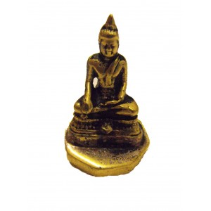 Fair Trade Cast Brass Buddha Statue / Stamp / Chop Figurine from Kathmandu, Nepal