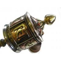 Beautiful Large Brass & Copper Tibetan Prayer Wheel - Fair Trade -Handmade by the Tibetan Buddhist community in Nepal