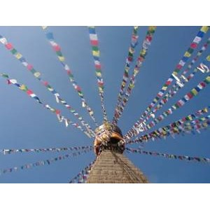 Genuine Extra Large Tibetan Prayer Flags ( Lung Ta ) - Fair Trade - Handmade by the Tibetan Buddhist community in Nepal