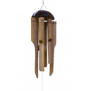 Bamboo Wind chime / Windchime for indoor and outdoor use, longest chime 12 inch / 30 cm - Fair Trade