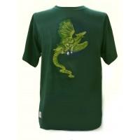 Fair Trade Embroidered Green Dragon T Shirt ( Green T Shirt)