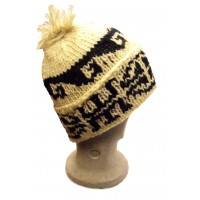 Fair Trade Traditional Unlined Bobble Hat - Hand Knitted - 100% Fairtrade Wool