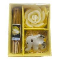 Jasmine Incense Gift Set, Thai Incense Sticks, Candle & Burner Gift Set - Fair Trade