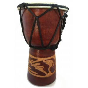Small Djembe Drum - Authentic African Style -15 cm high Hand Carved Fair Trade