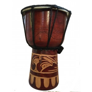 Djembe Drum - Authentic African Style - 20 cm high Hand Carved Fair Trade
