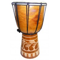 Authentic African Style 30 cm high Hand Carved Djembe Drum - Fair Trade