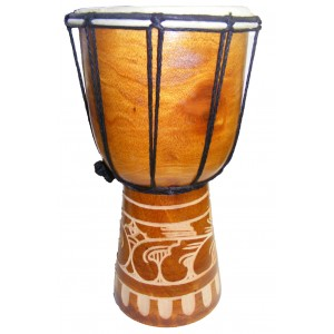 Djembe Drum - Midi Size  African Style 30 cm high Hand Carved  - Fair Trade