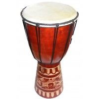 Authentic African Style 40 cm high Hand Carved Djembe Drum - Fair Trade
