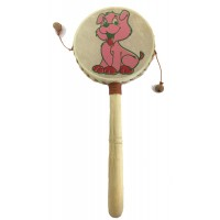 Monkey Drum - Puppy Dog Design - Great Sound, Fair Trade, Brightly Painted - Ideal for Kids
