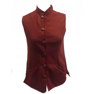 Vintage Woollen Nehru Waistcoat / Bodywarmer - Handmade in Rajasthan - Fair Trade
