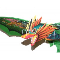 Large Traditional Handmade Green Balinese Dragon Kite