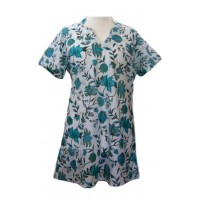 100% Cotton Emma Beautiful Flower Print Kaftan Top - Fair Trade