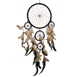 Extra Large Black Native American Style Dreamcatcher - Fair Trade