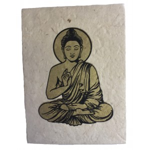Fair Trade Handmade Nepali Lokta Paper Lord Buddha Notepad