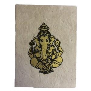 Fair Trade Handmade Nepali Lokta Paper Lord Ganesh Notebook