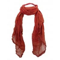 Fair Trade Cotton Hand Printed Orange / Red  Ram Nami Scarf