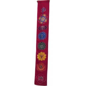 Batik Seven Chakra Hanging - Hand made in Bali - 5 colours /  2 sizes - Fair Trade