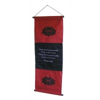 Red Passion Affirmation Wall Hanging / Banner