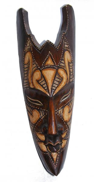 Fair Trade Handcarved 30cm Indigenous Borneo Tribal 'Spike' Mask
