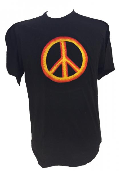 Fair Trade Embroidered Classic Peace Sign T Shirt